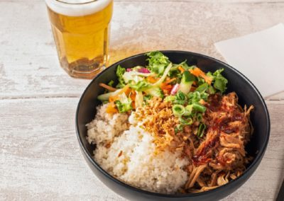 rice bowl pulled pork